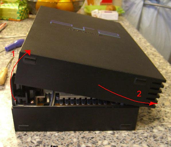 Снимаем крышку PS2