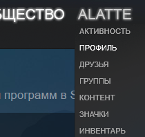 Профиль в Steam