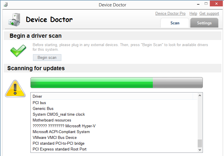 Окно программы Device Doctor