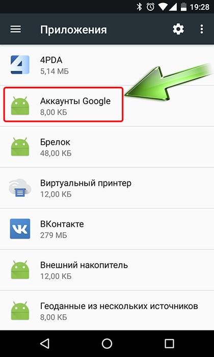 Удаление Google-аккаунта